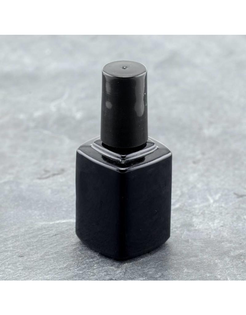 Leere Glasflasche 10ml  schwarz