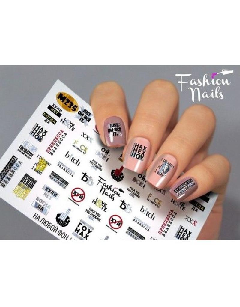 Nail Wraps metallic m235
