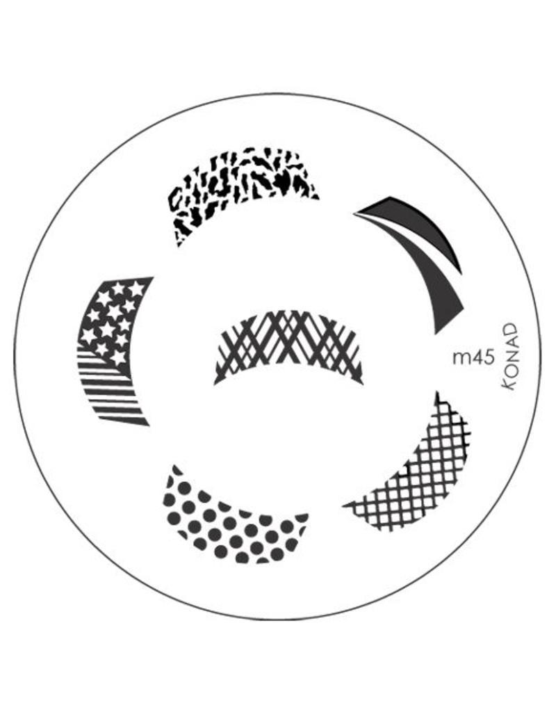 Konad Stamping Schablone m45