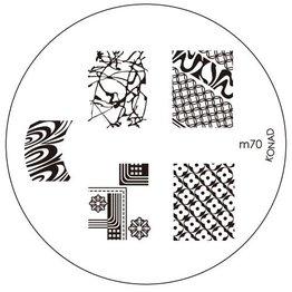 Konad Stamping Schablone m70