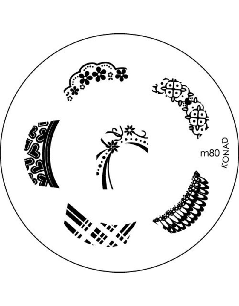 Konad Stamping Schablone m80