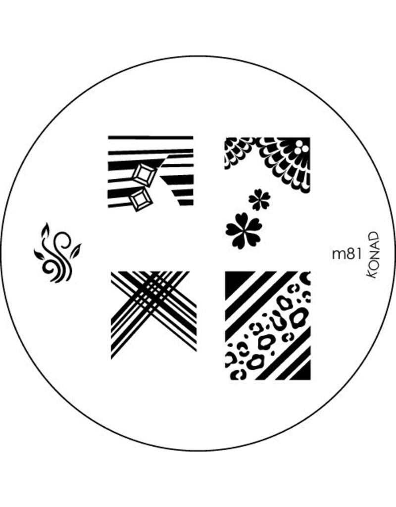 Konad Stamping Schablone m81