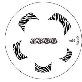 Konad Stamping Schablone m88