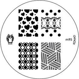Konad Stamping Schablone m95