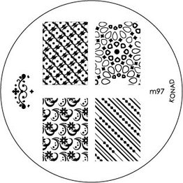 Konad® Konad Stamping Schablone m97