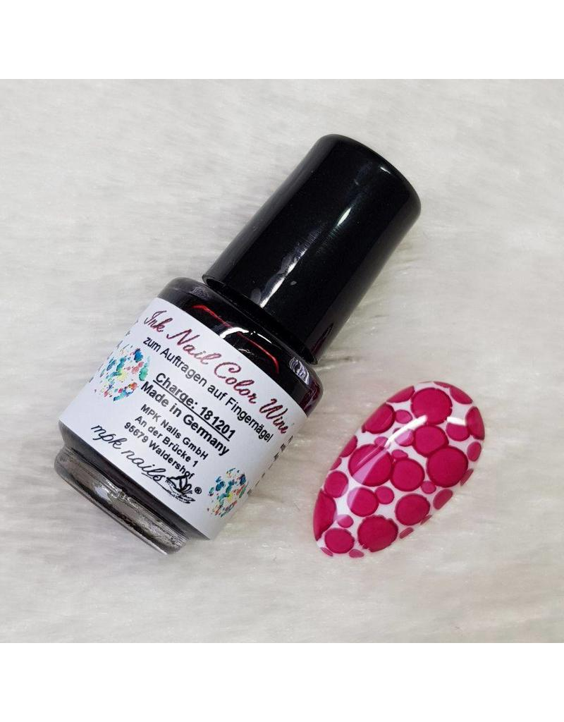 Ink Nail Color Wine