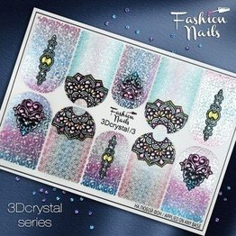 Nail Wraps 3D Crystal