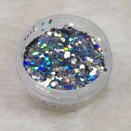 Glitter Pailletten klein 23 Holo Silber
