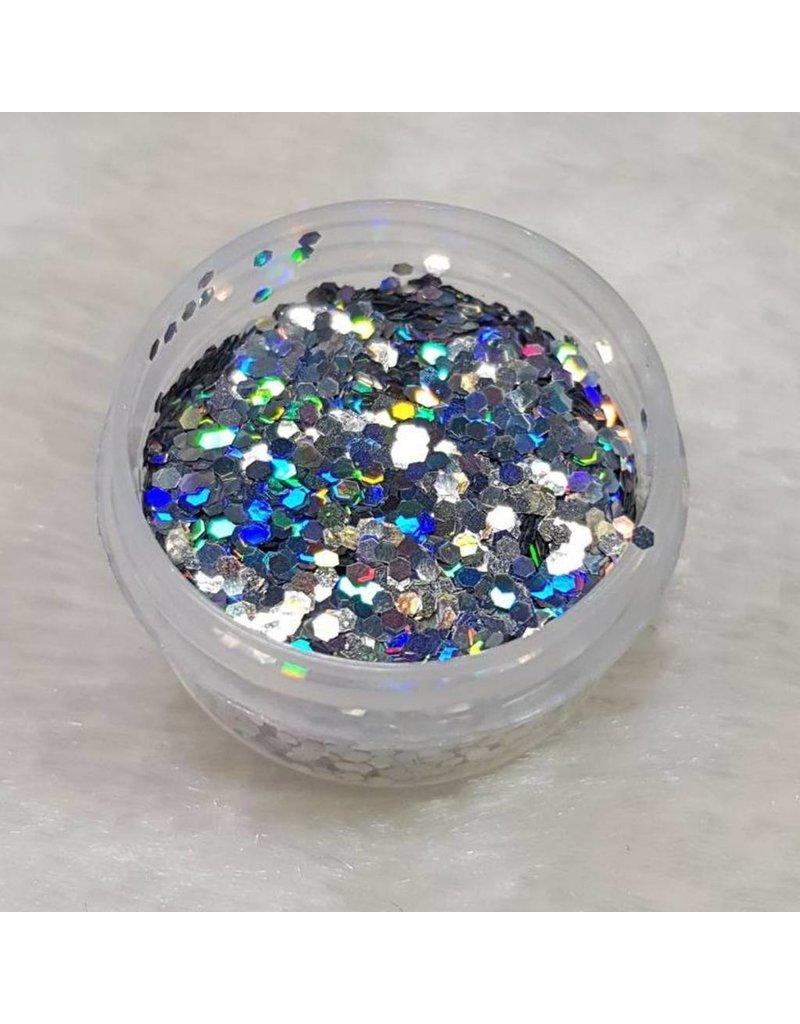MPK Nails® Glitter Pailletten 23 Holo Silber