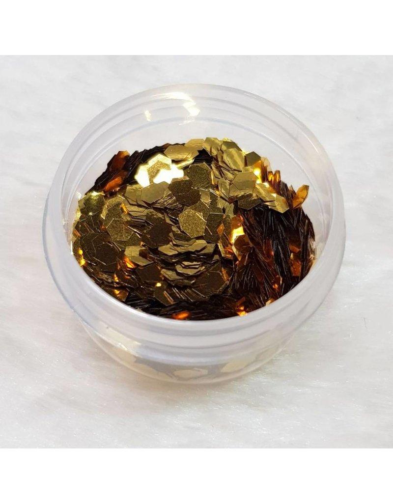 Glitter Pailletten groß 09 Gold