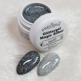 Precious Glittergel 5ml Magic Silber