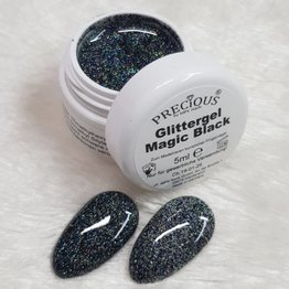 Precious by MPK Nails® Precious Glittergel 5ml Magic Black