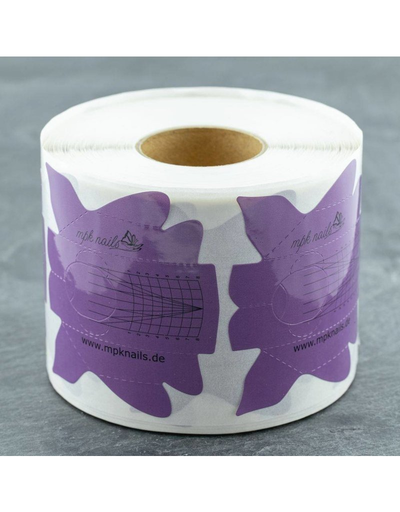 MPK Nails® 500 Modellier Schablonen - Purple Butterfly
