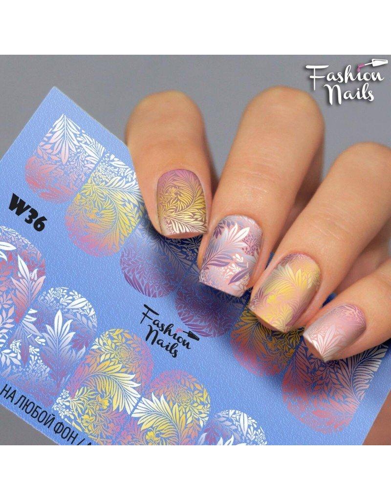 Nail Wraps Weisse Tresse W36