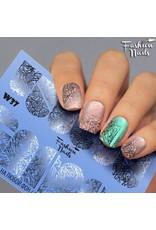 Nail Wraps Weisse Tresse W37