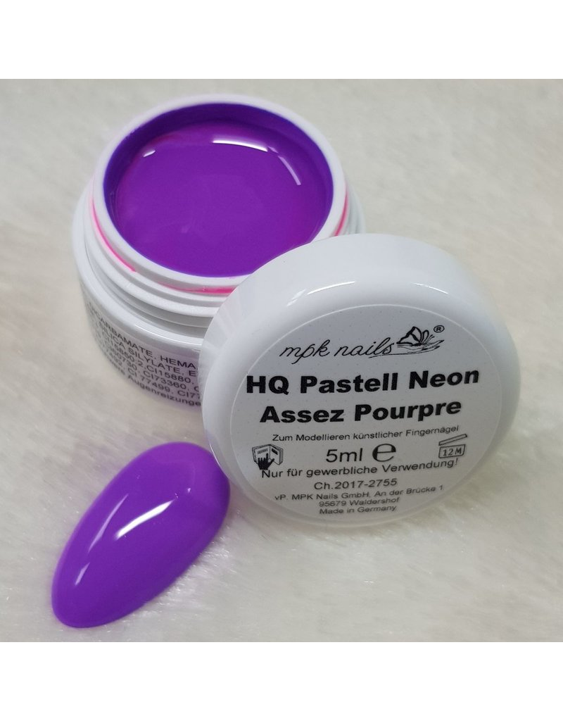 High Quality Farbgel Pastell Neon 5ml Assez Pourpre