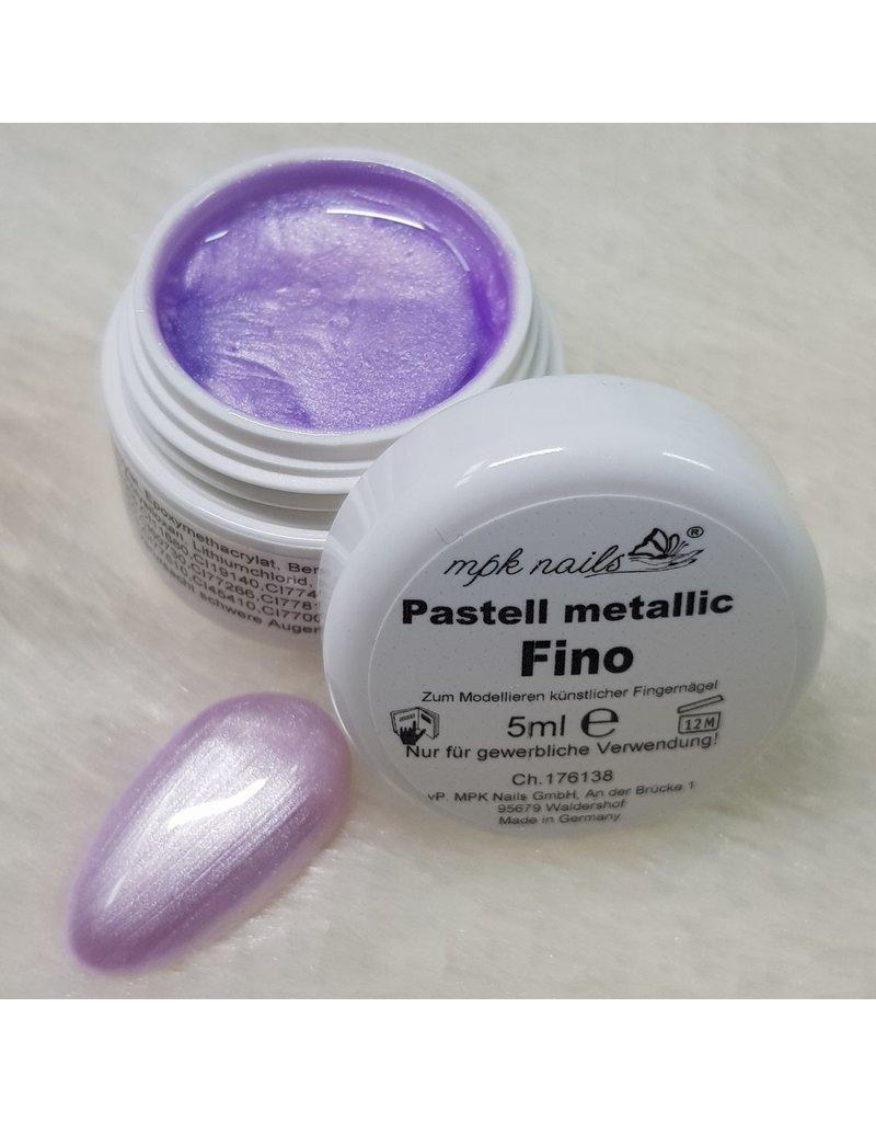 Farbgel Pastell Metallic 5ml Fino