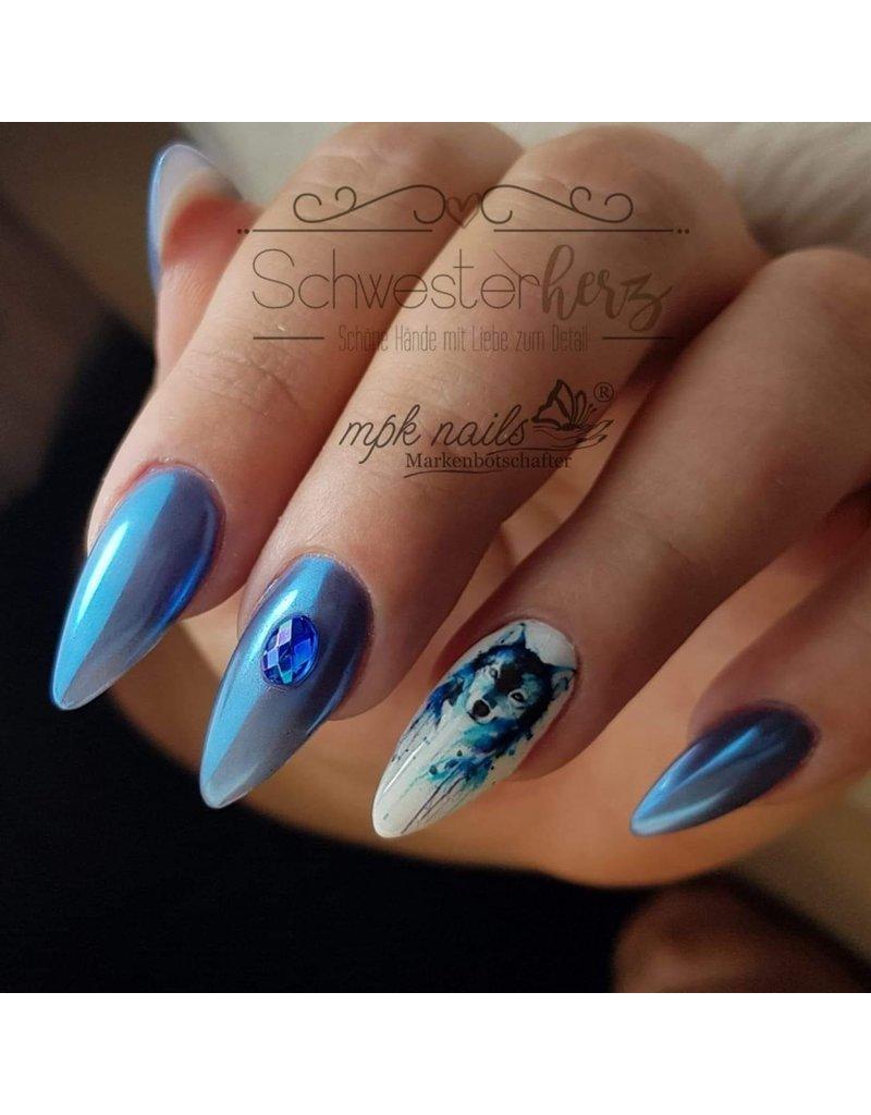 MPK Nails® Finest Chrome Pigment Beautiful Blue