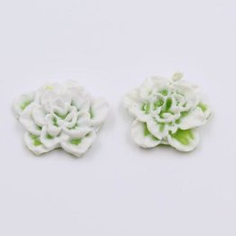 2x Silikon Flowers green