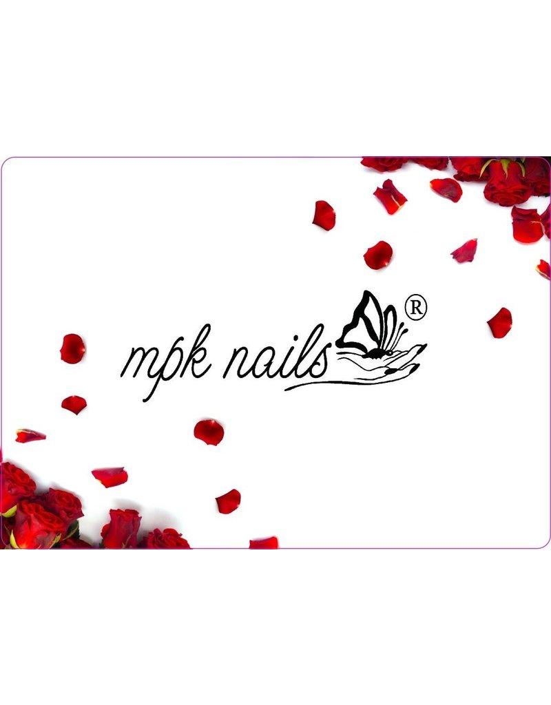 MPK Nails® Arbeitsunterlage mit MPK-Logo Rosen