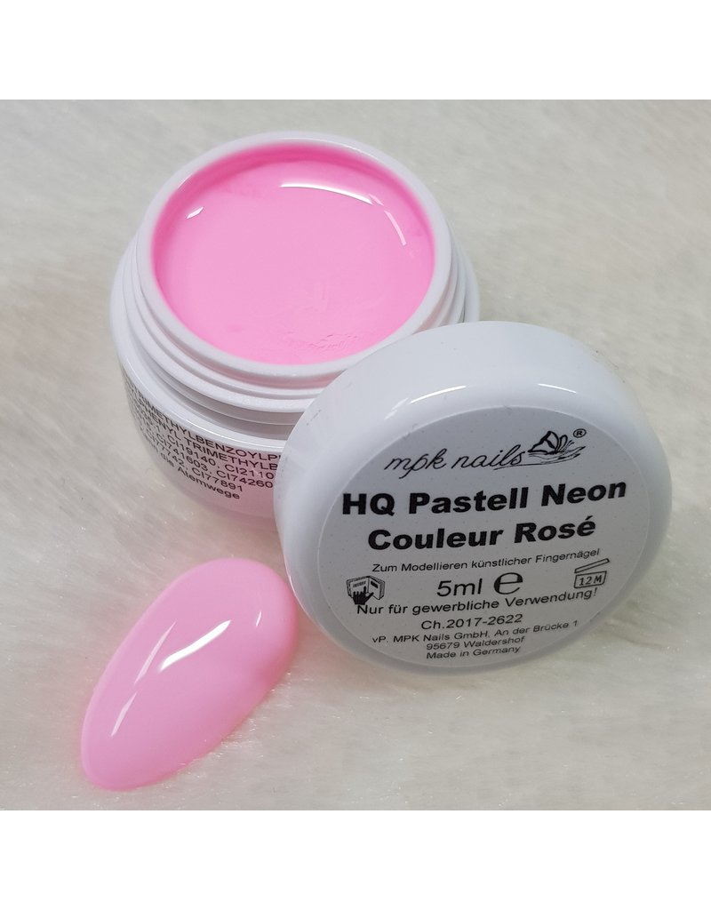 MPK Nails® High Quality Farbgel Pastell Neon 5ml Couleur Rosé