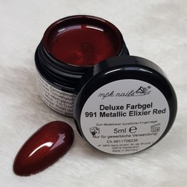 """Deluxe Farbgel """"991 Metallic Elixier Red"""" 5ml"""