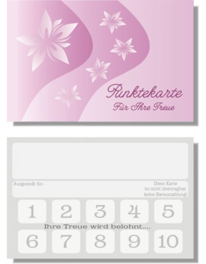 25x Bonuskarte / Treuekarte