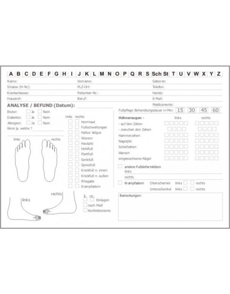 Kundenkarten für Fußpflege Podologie DIN A5