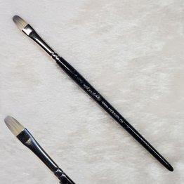 MPK Nails® Gelpinsel Fullcover, Größe 8, Schwarz-Glitzer