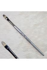Gelpinsel Fullcover, Größe 8, Silber