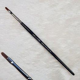 MPK Nails® Modellage-Pinsel oval, Größe 2, Schwarz-Glitzer mit Logo