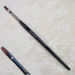 MPK Nails® Modellage-Pinsel oval, Größe 4, Schwarz-Glitzer mit Logo