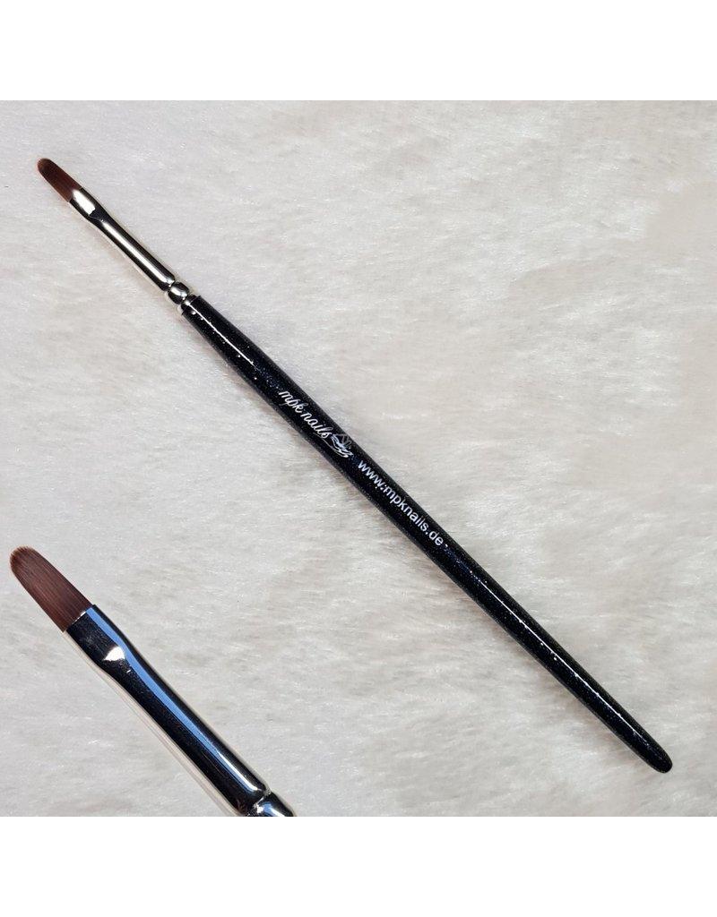 Modellage-Pinsel oval, Größe 4, Schwarz-Glitzer
