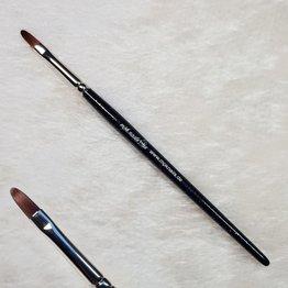 MPK Nails® Modellage-Pinsel oval, Größe 6, Schwarz-Glitzer mit Logo