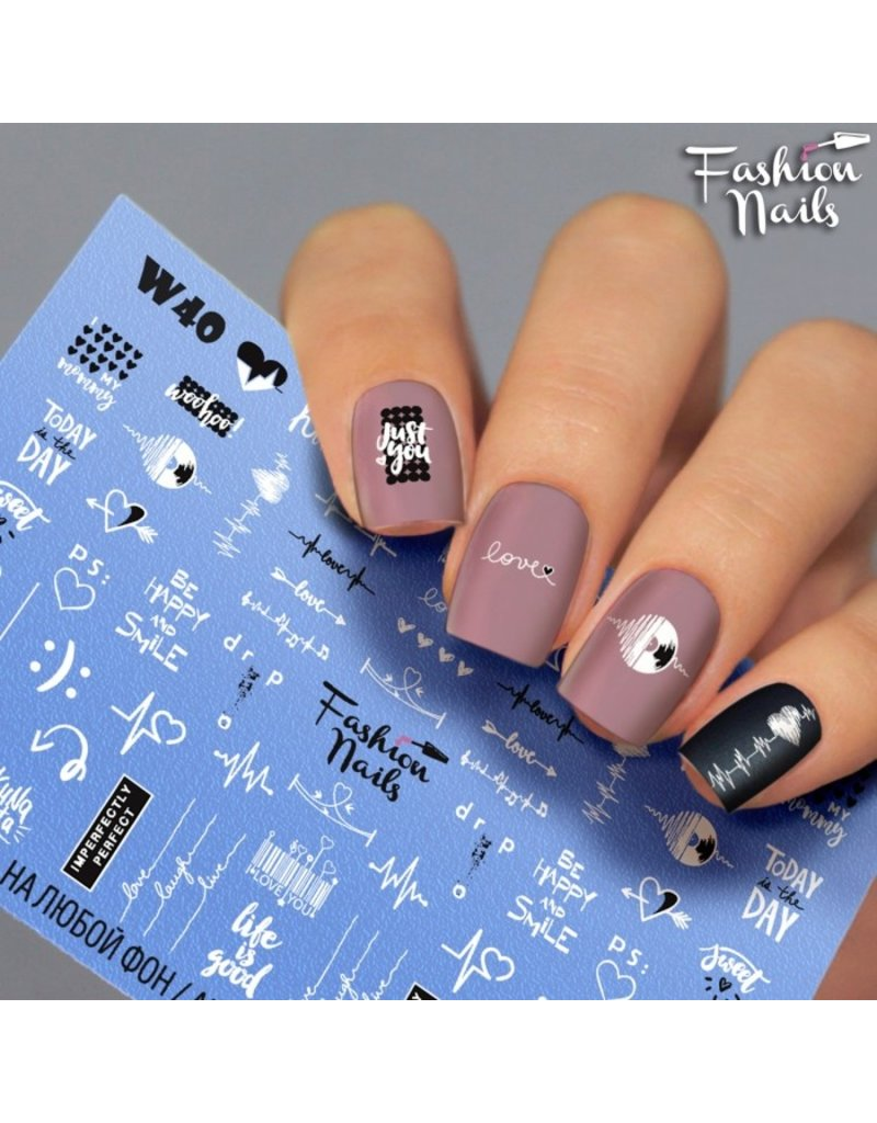 Nail Wraps Weisse Tresse W40