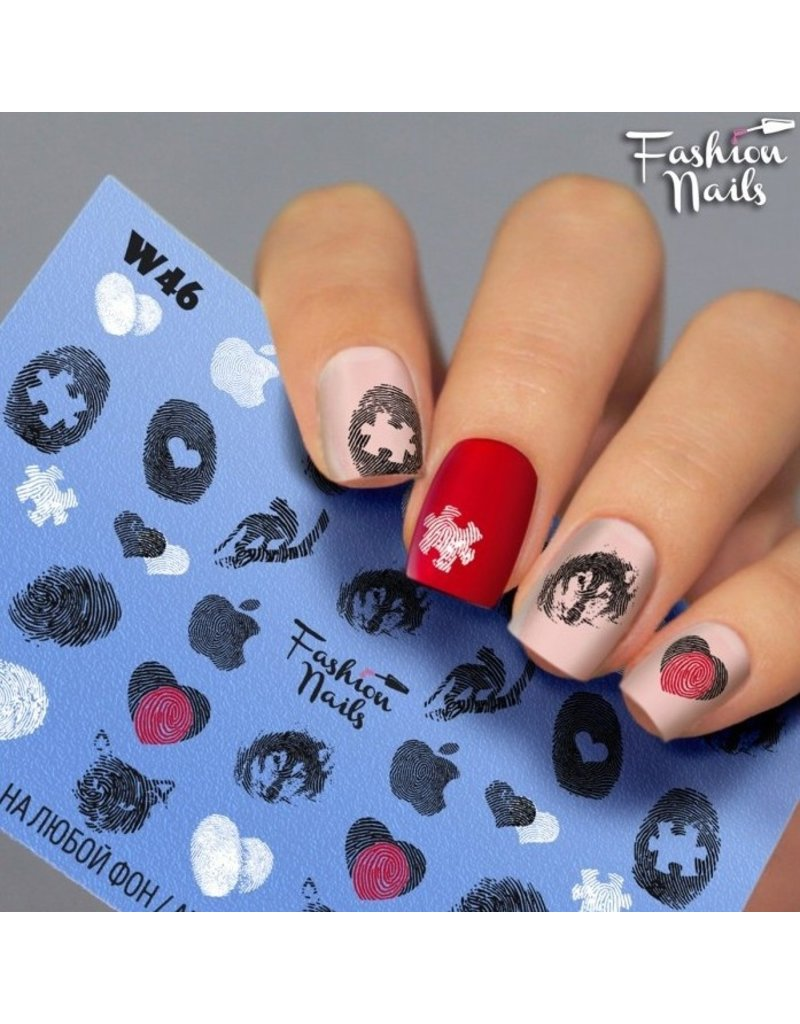 Fashion Nails Nail Wraps Weisse Tresse