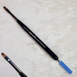 Acrylgel Pinsel mit Spatel, schwarz