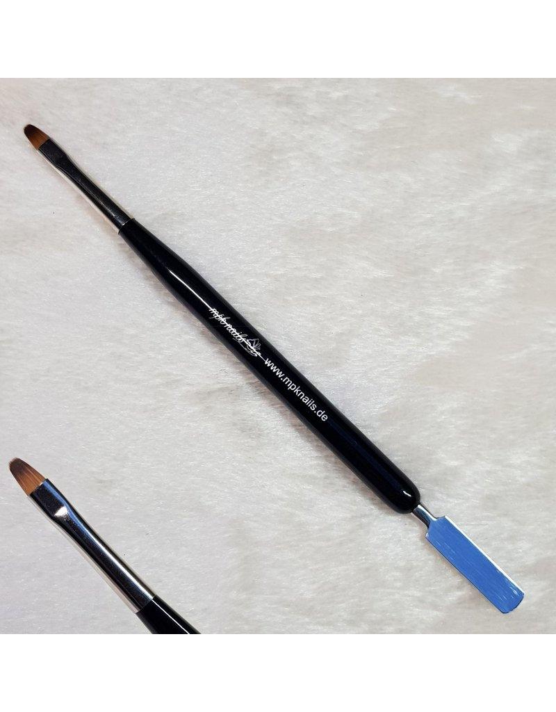 MPK Nails® Acrylgel Pinsel mit Spatel, schwarz