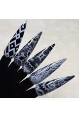 MPK Nails® 10x Nailart Transfer Folie in Box, weiß