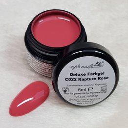 "Deluxe Farbgel ""C022  Gel Rapture Rose"" 5ml - Limited Edition"