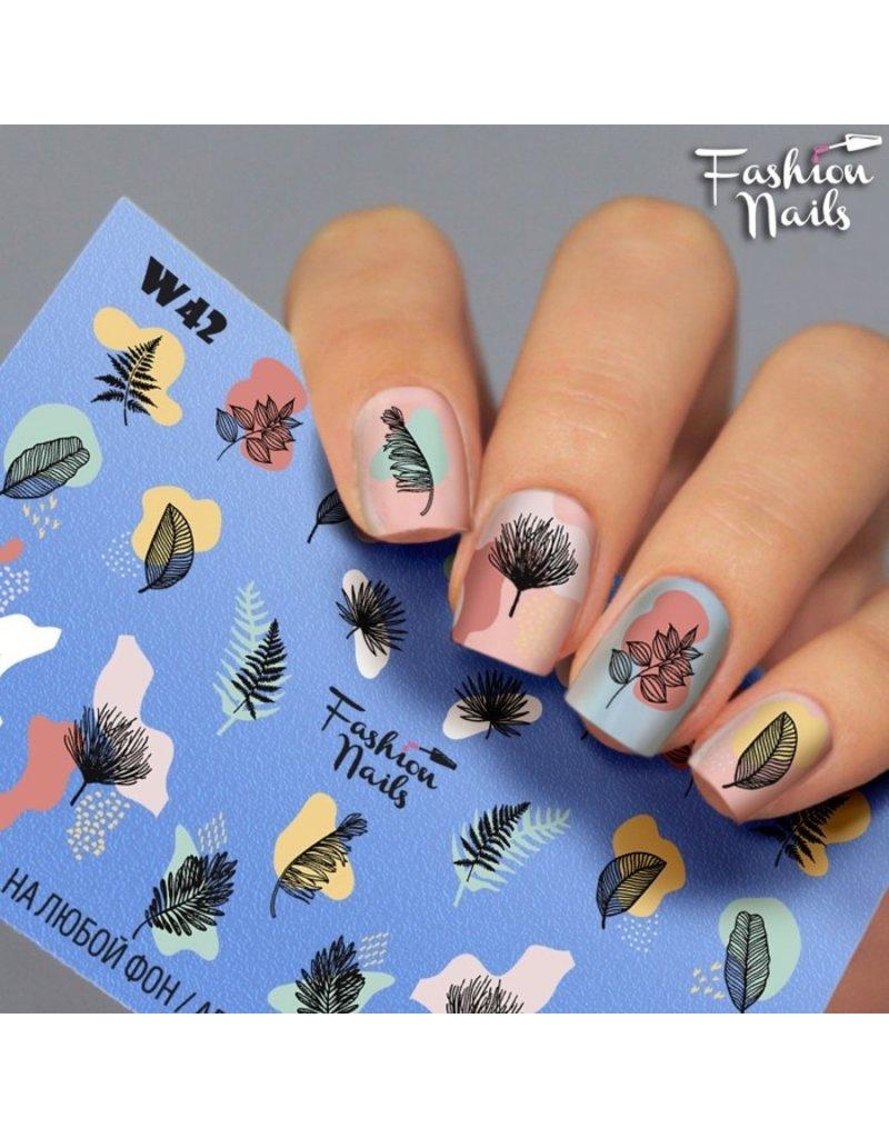 Fashion Nails Nail Wraps Weisse Tresse
