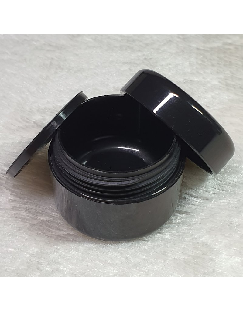 Leerer Kosmetik Tiegel 50ml schwarz