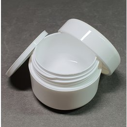 Leerer Kosmetik Tiegel 50ml weiß