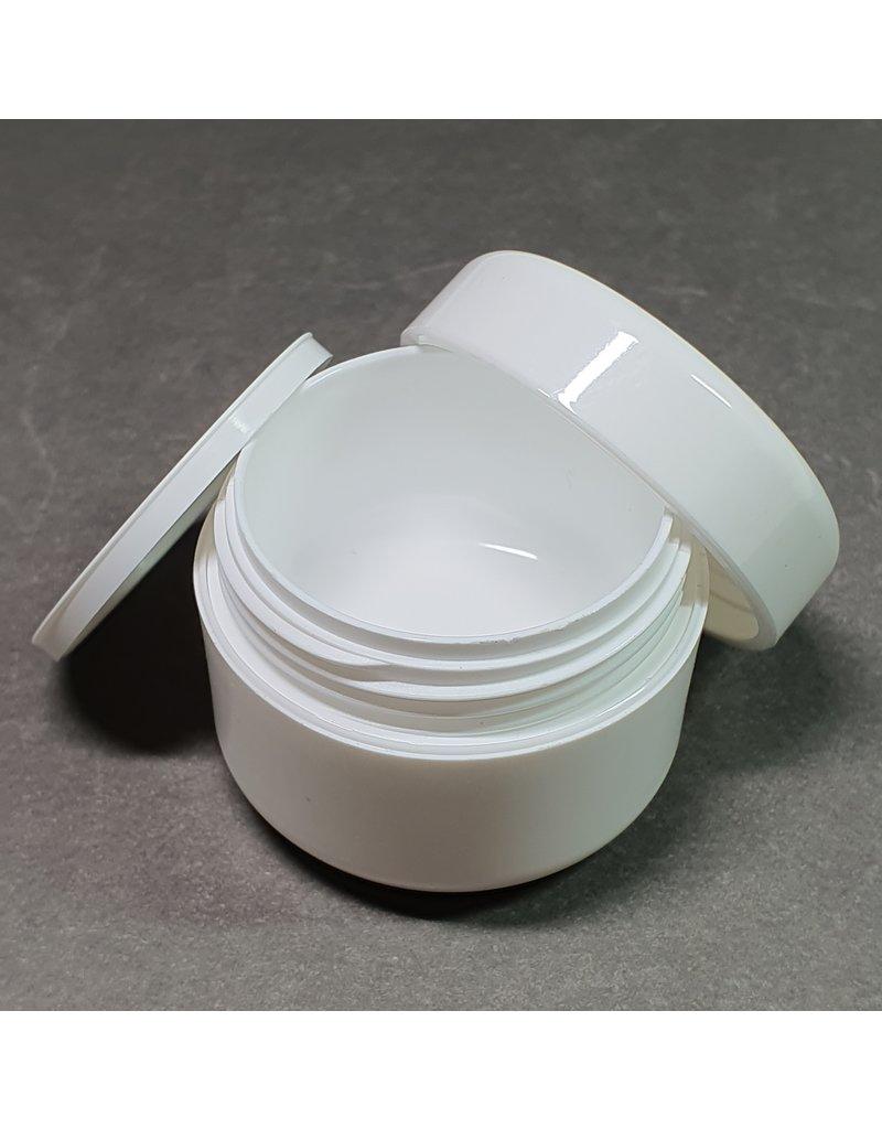 Leerer Kosmetik Tiegel 15ml weiß