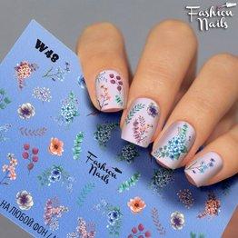 Nail Wraps Weisse Tresse W48