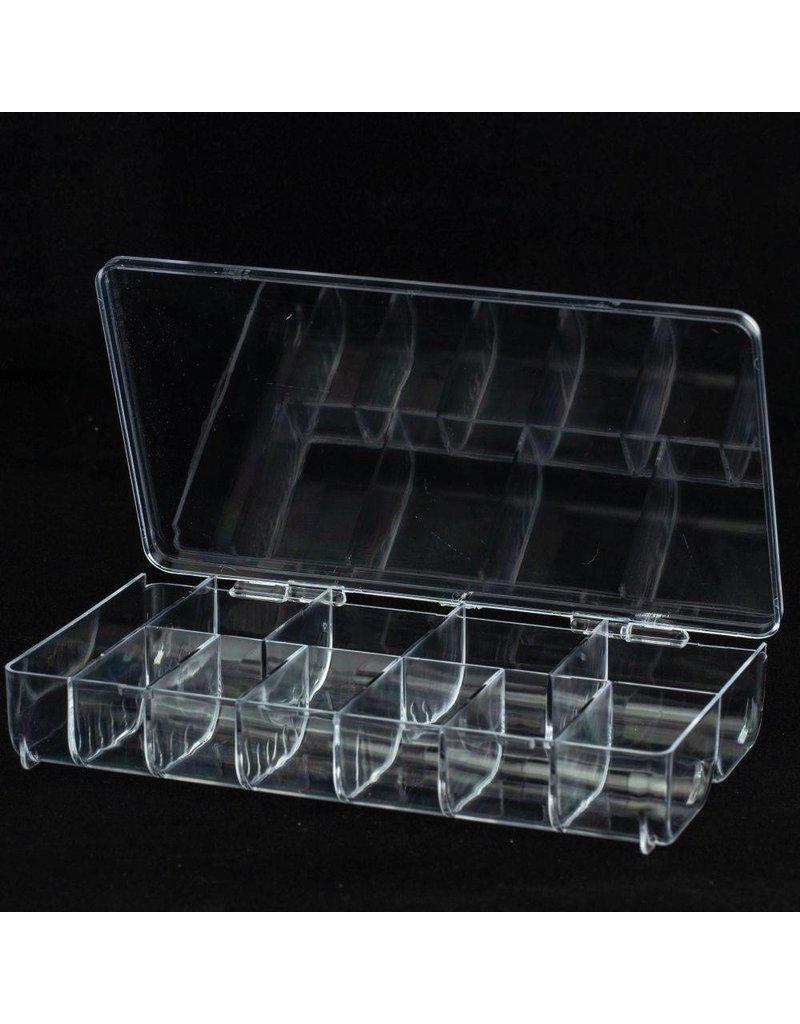 Nail Tip Box für 500 Tips + Extrafach, leer