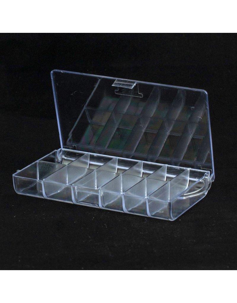 Nail Tip Box für 100 Tips + Extrafach, leer