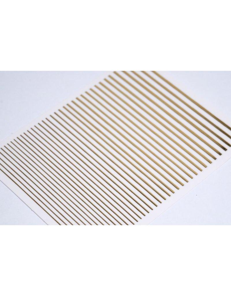 Metallic Nail Sticker Stripes gold