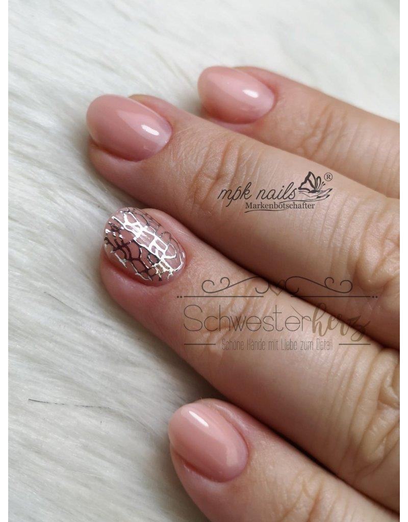 XXL Nail Sticker J004 silber