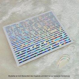 Metallic Nail Sticker Stripes holo silber